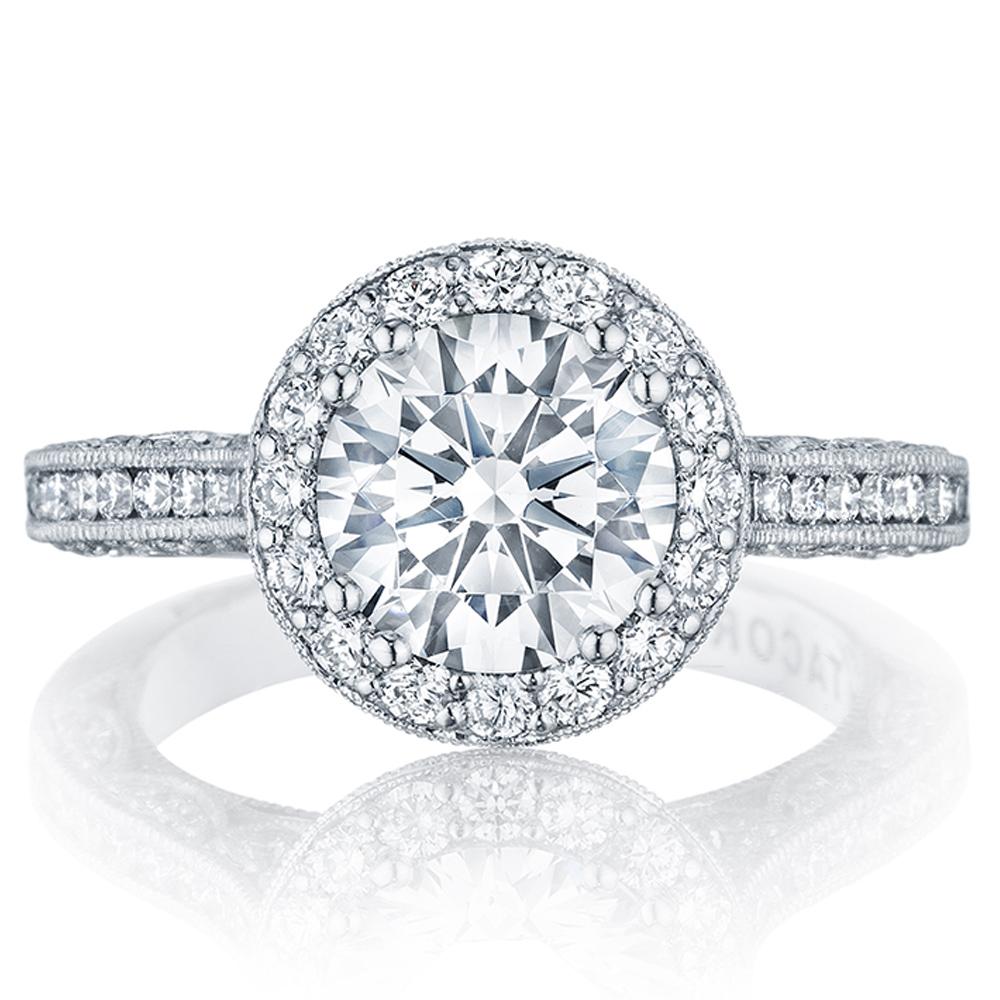 Tacori HT2550RD8 18 Karat Classic Crescent Engagement Ring