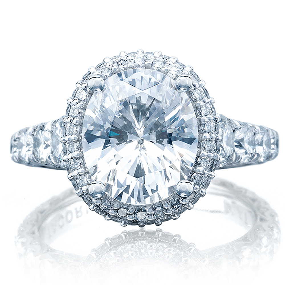 Tacori HT2624OV10X85 18 Karat RoyalT Engagement Ring