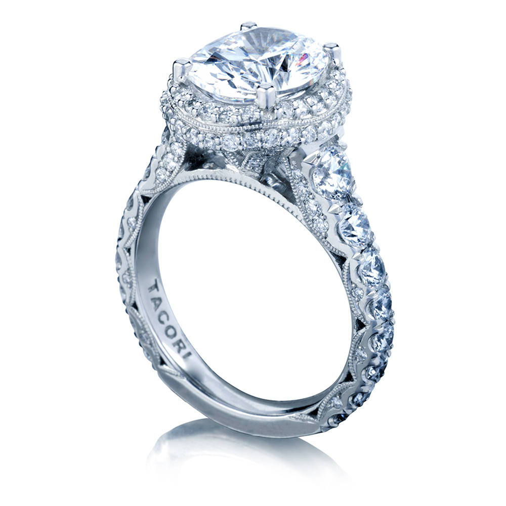 Tacori HT2624OV10X85 18 Karat RoyalT Engagement Ring Alternative View 2