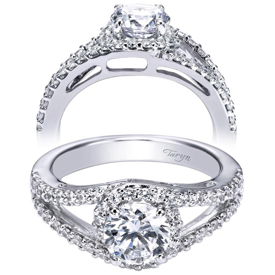 Taryn 14k White Gold Round Halo Engagement Ring TE5999W44JJ