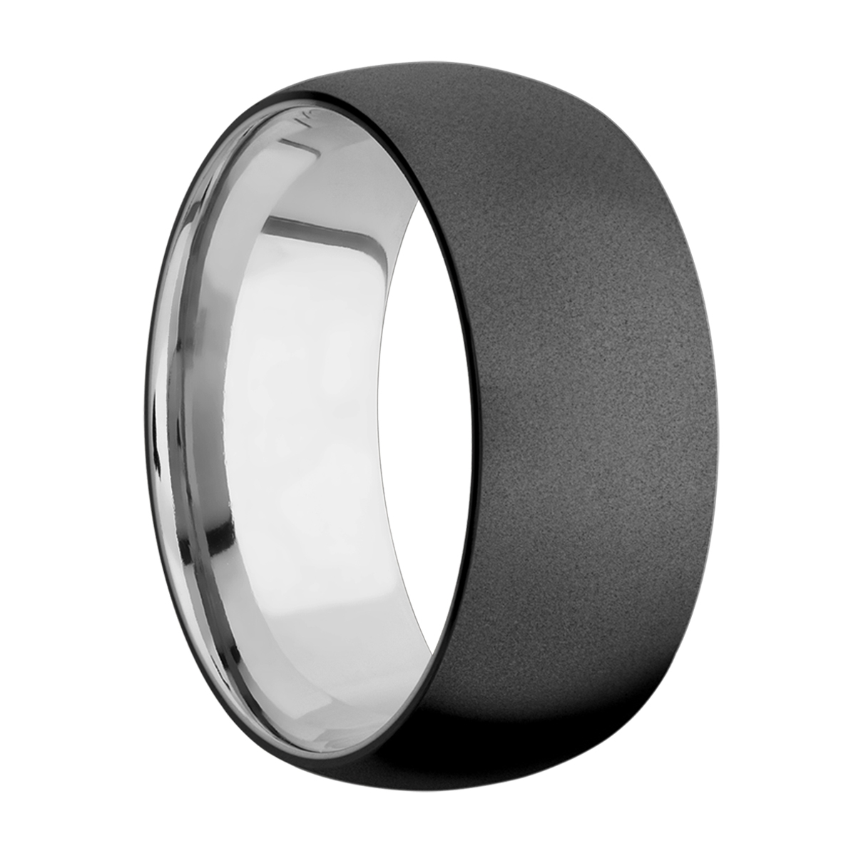 Lashbrook TISLEEVEZ9D Zirconium and Titanium Wedding Ring or Band Alternative View 1