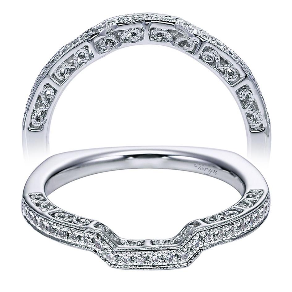 Taryn 14 Karat White Gold Curved Wedding Band TW5949W44JJ TQ Diamonds