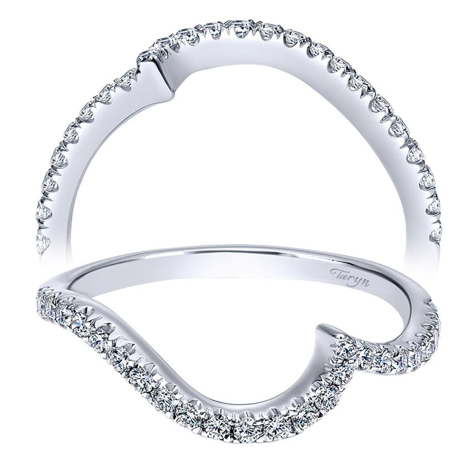 Taryn 14 Karat White Gold Curved Wedding Band Tw911775s0w44jj