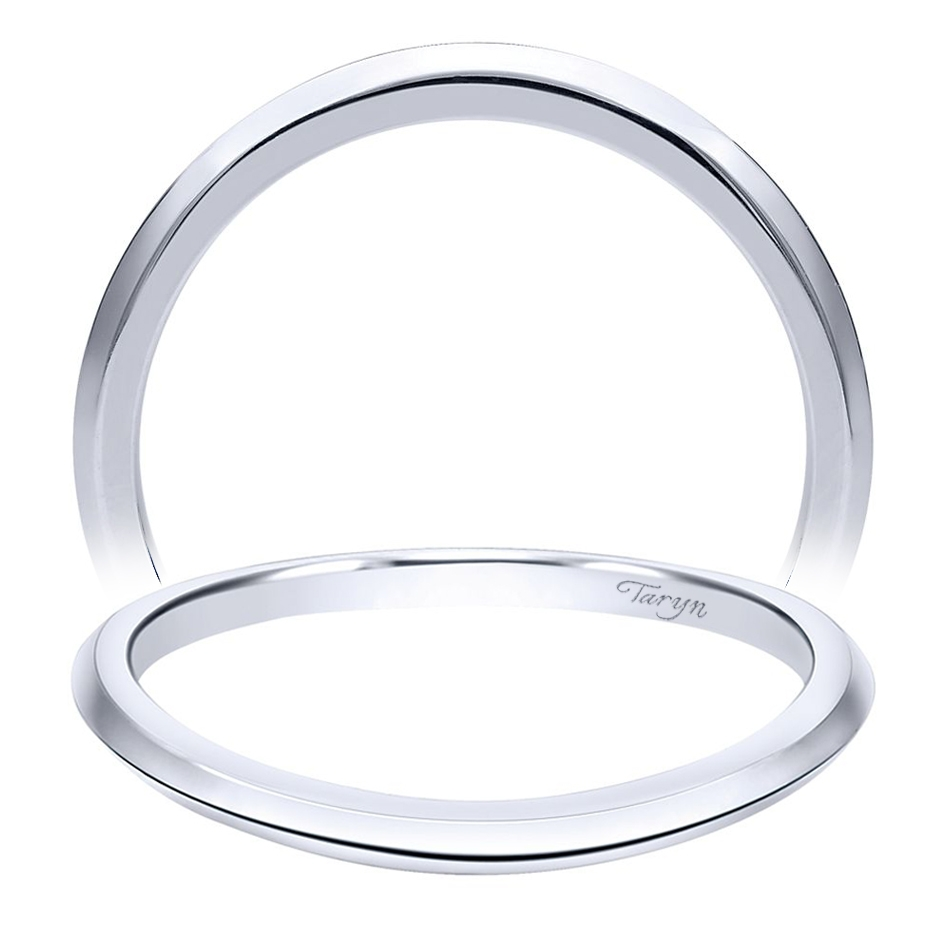 Taryn 14 Karat White Gold Curved Wedding Band TW911780R2W4JJJ