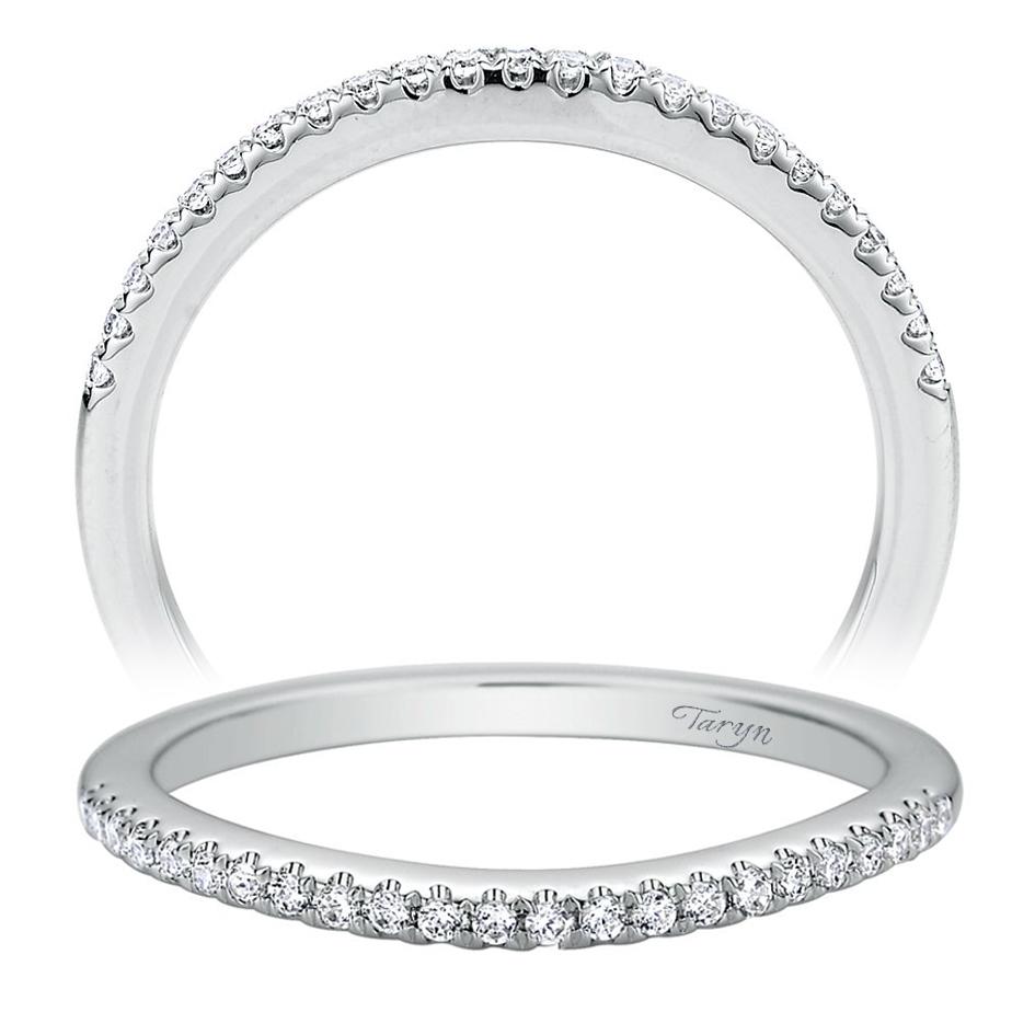 Taryn 14 Karat White Gold Curved Wedding Band Tw9255w44jj