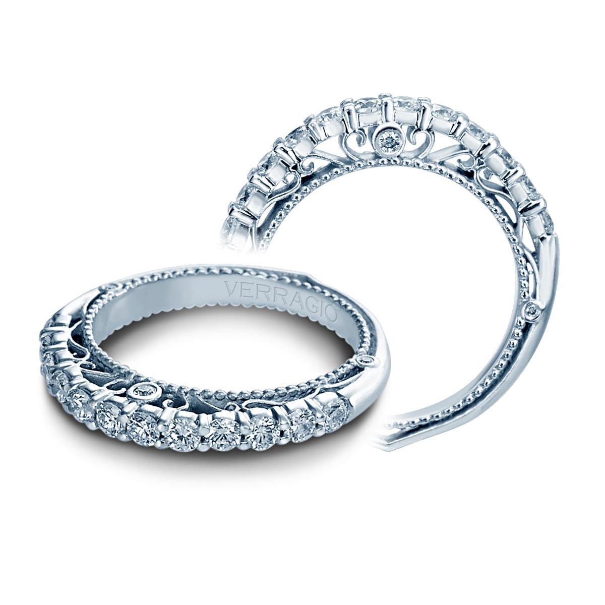 14 Karat Bands: Verragio Venetian-5010W 14 Karat Wedding Ring / Band