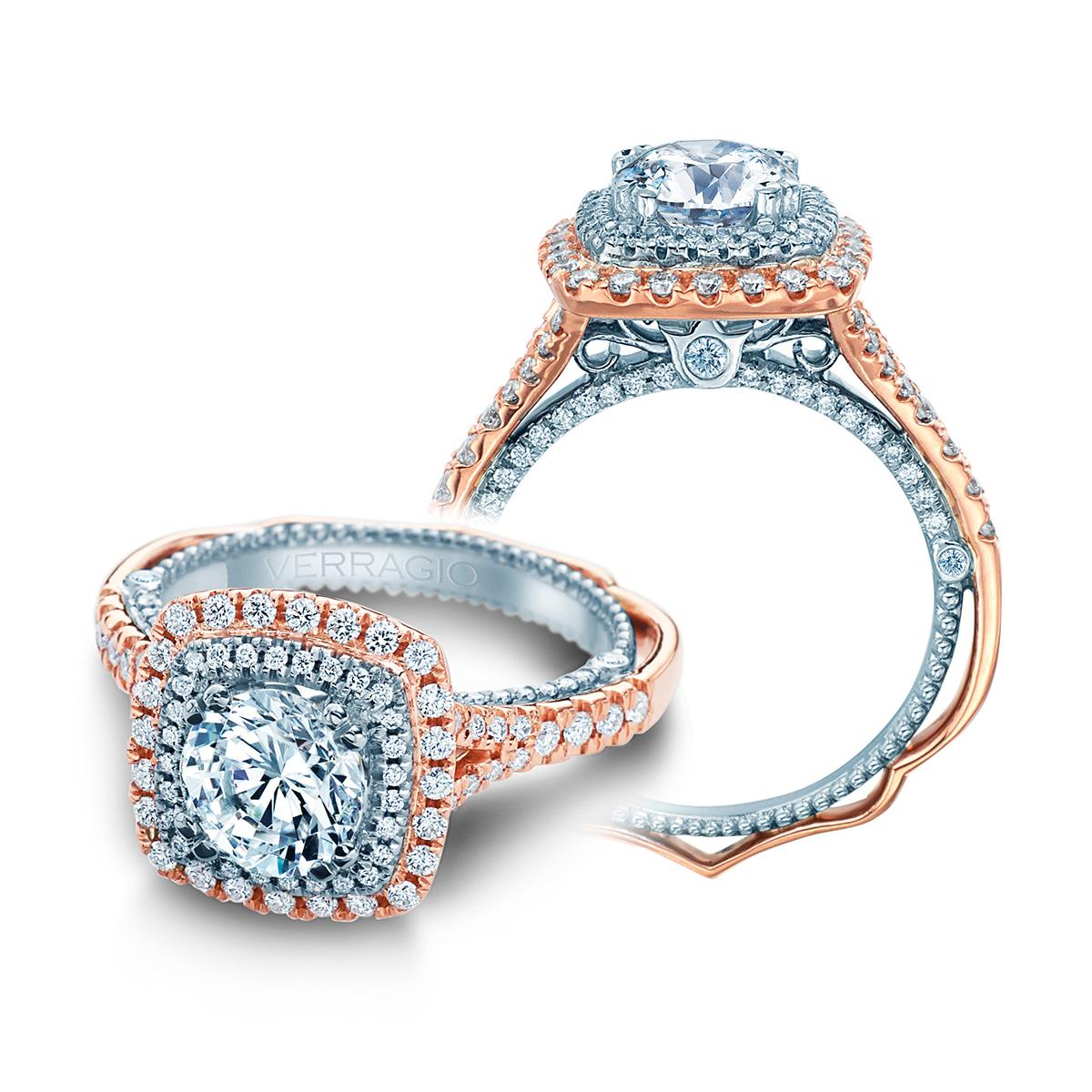 verragio venetian 5065cu 2rw platinum engagement ring tq On verragio wedding sets