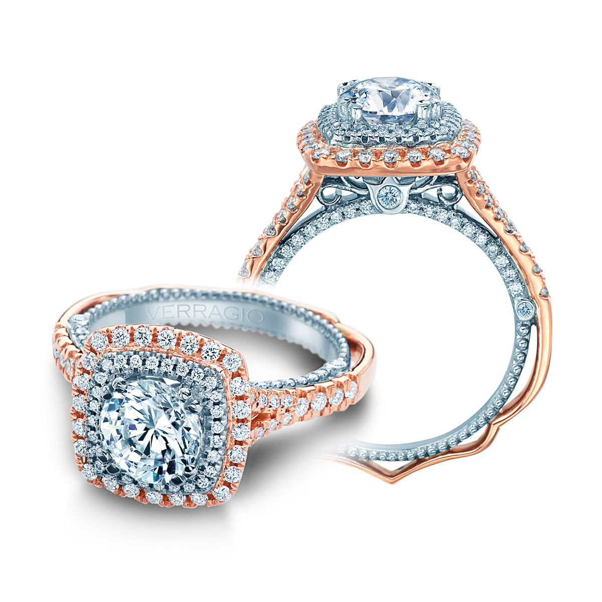 Verragio Venetian 5065cu 2rw 18 Karat Engagement Ring Tq
