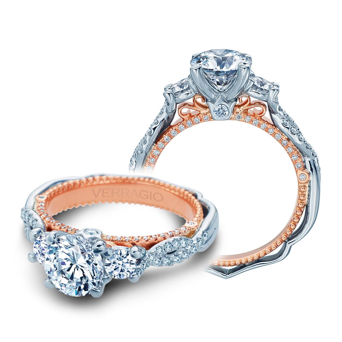 verragio venetian 5069r 2wr 18 karat engagement ring tq