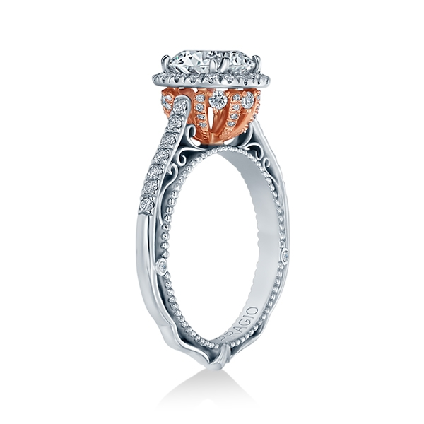 Verragio Venetian-5060R-TT Platinum Engagement Ring Alternative View 2