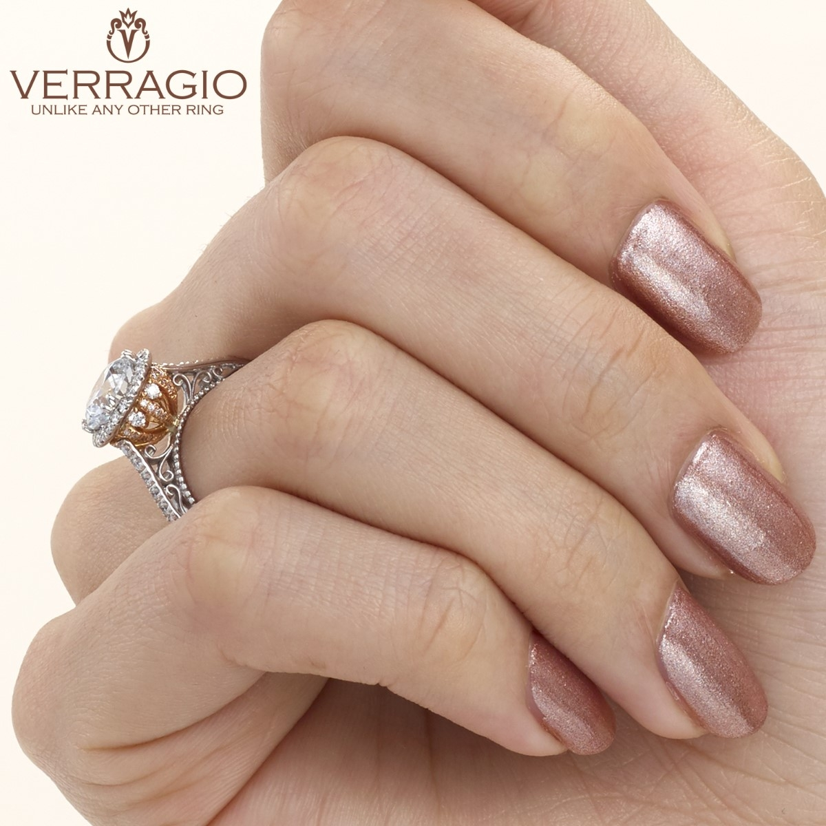 Verragio Venetian-5060R-TT Platinum Engagement Ring Alternative View 4