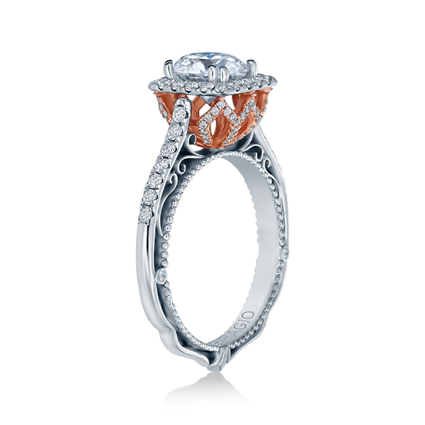 Verragio Venetian-5061CU-TT 18 Karat Engagement Ring Alternative View 2
