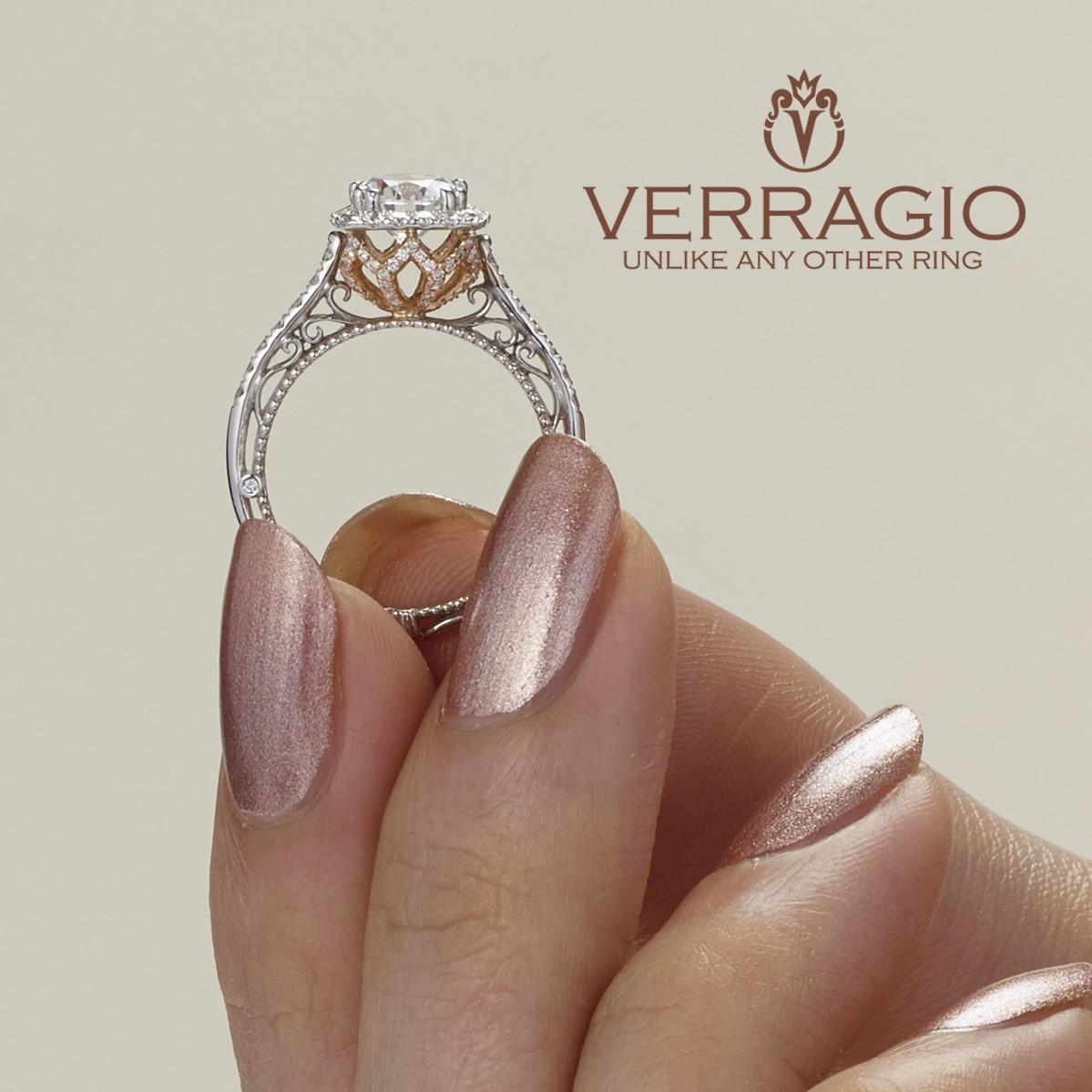Verragio Venetian-5061CU-TT 18 Karat Engagement Ring Alternative View 3