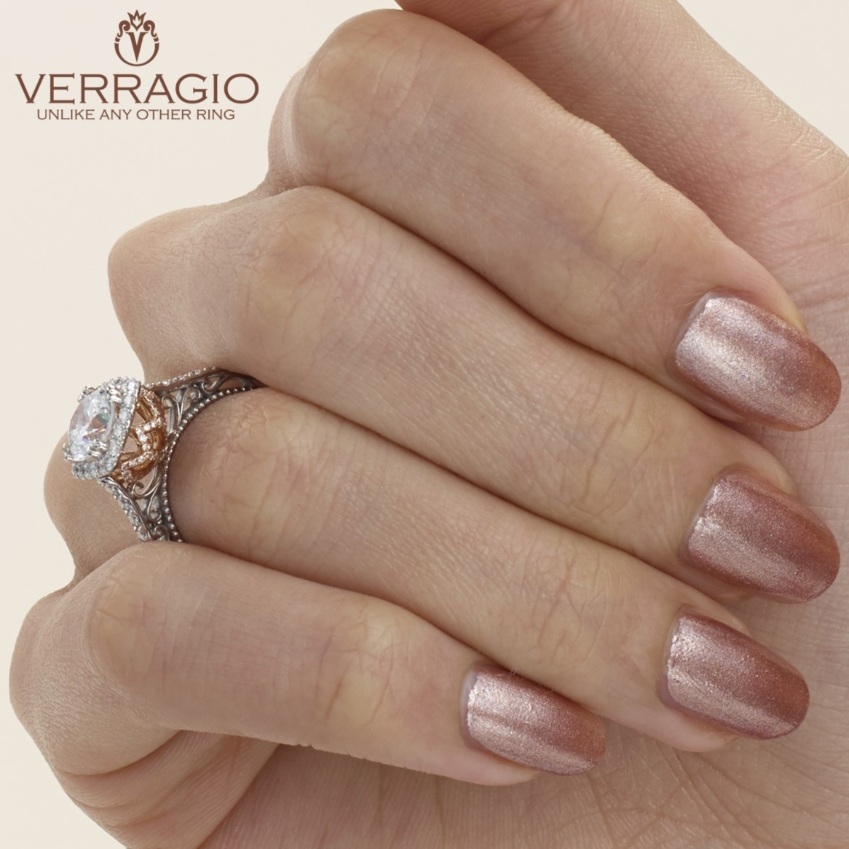Verragio Venetian-5061CU-TT 18 Karat Engagement Ring Alternative View 4