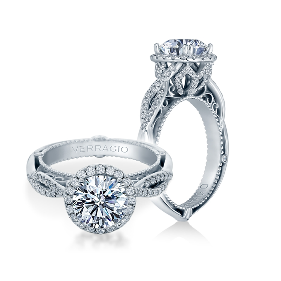 Verragio Venetian-5062R Platinum Engagement Ring
