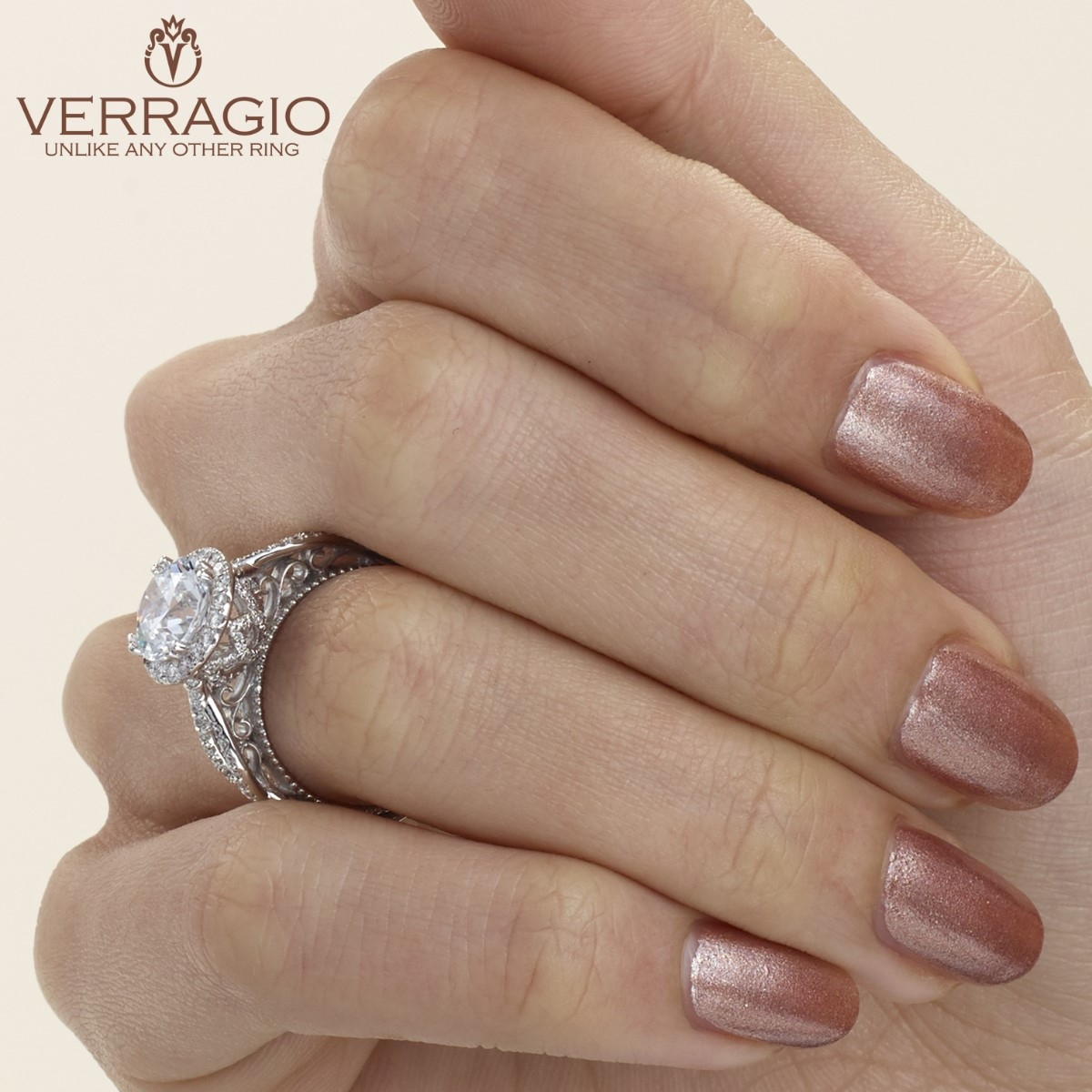 Verragio Venetian-5062R Platinum Engagement Ring Alternative View 4