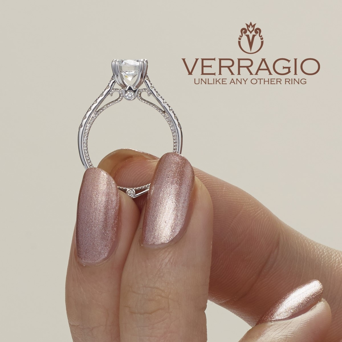 Verragio Couture-0412 18 Karat Engagement Ring Alternative View 3