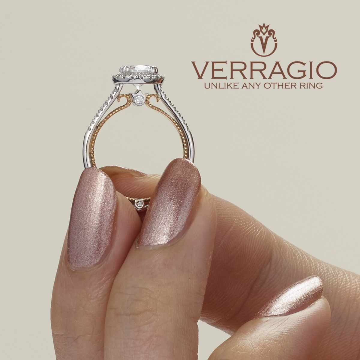 Verragio Couture-0420R-TT Platinum Engagement Ring Alternative View 4