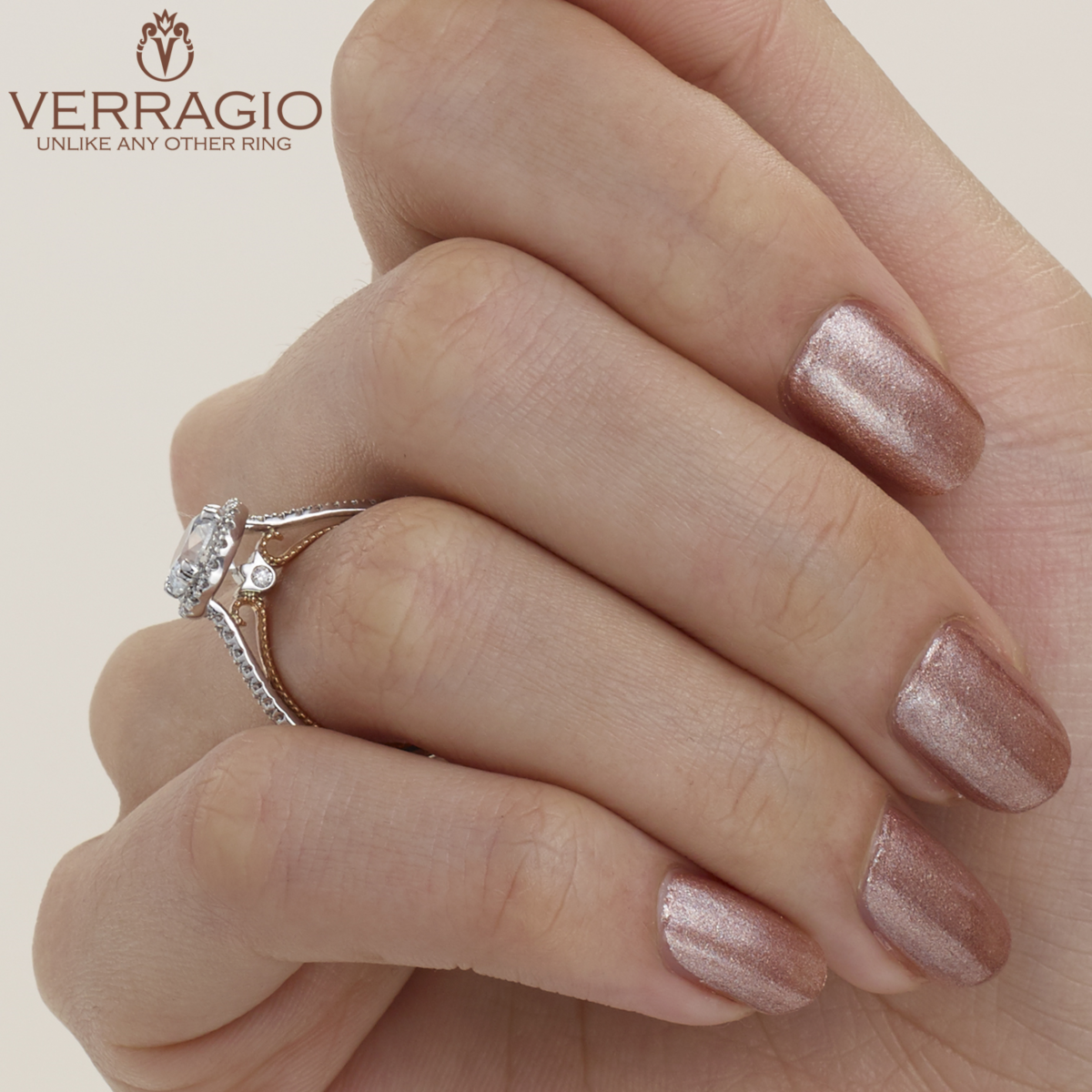 Verragio Couture-0420R-TT Platinum Engagement Ring Alternative View 5
