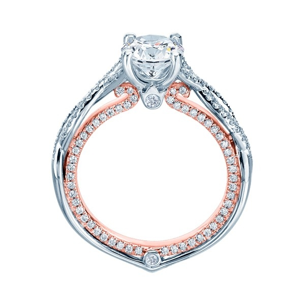 Verragio Couture-0421DR-TT 14 Karat Engagement Ring