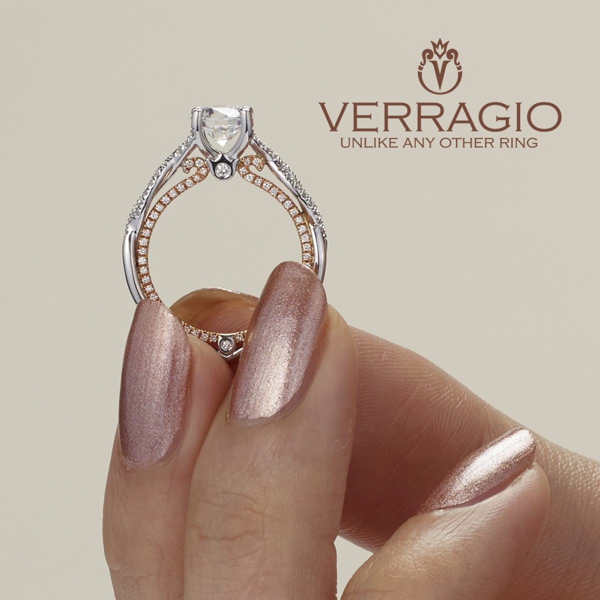 Verragio Couture-0421DR-TT 14 Karat Engagement Ring Alternative View 4