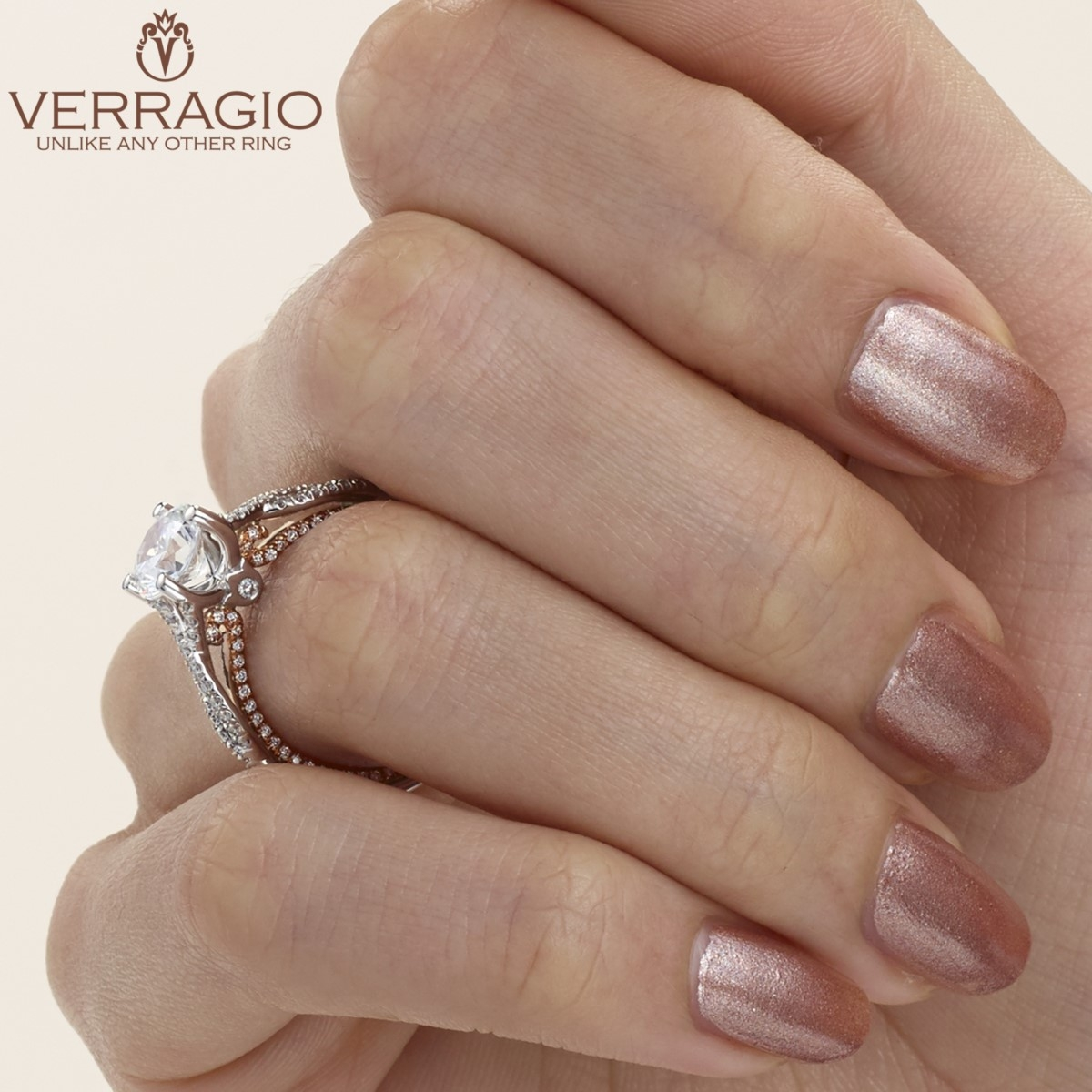 Verragio Couture-0421DR-TT 14 Karat Engagement Ring Alternative View 5