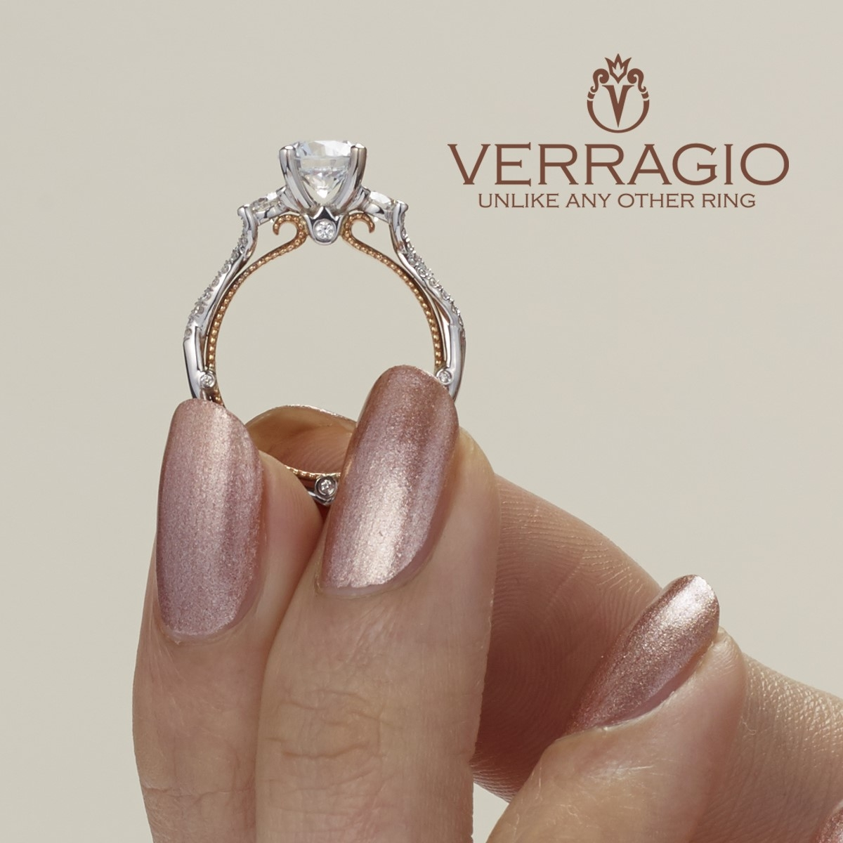 Verragio Couture-0423R-TT 18 Karat Engagement Ring Alternative View 2