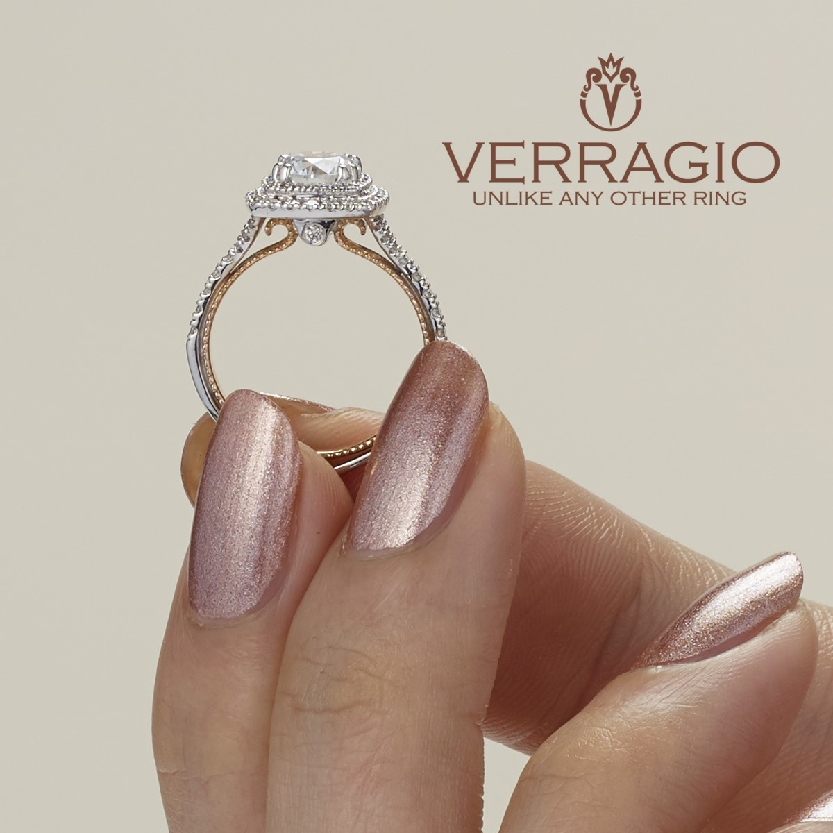 Verragio Couture-0425CU-TT Platinum Engagement Ring Alternative View 4