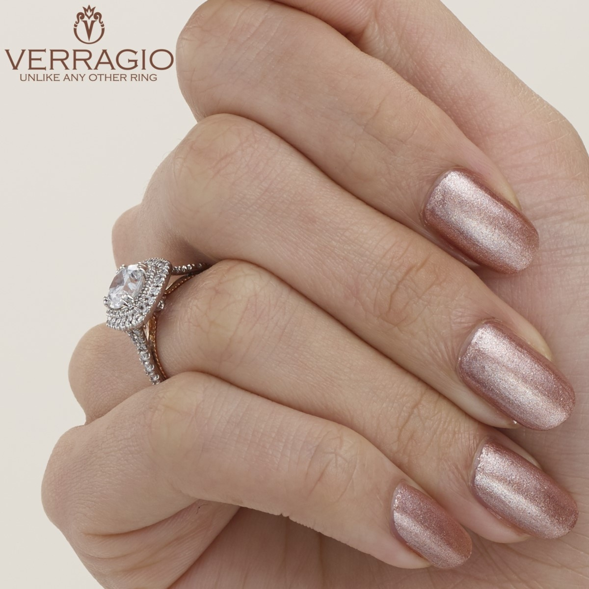 Verragio Couture-0425CU-TT Platinum Engagement Ring Alternative View 5