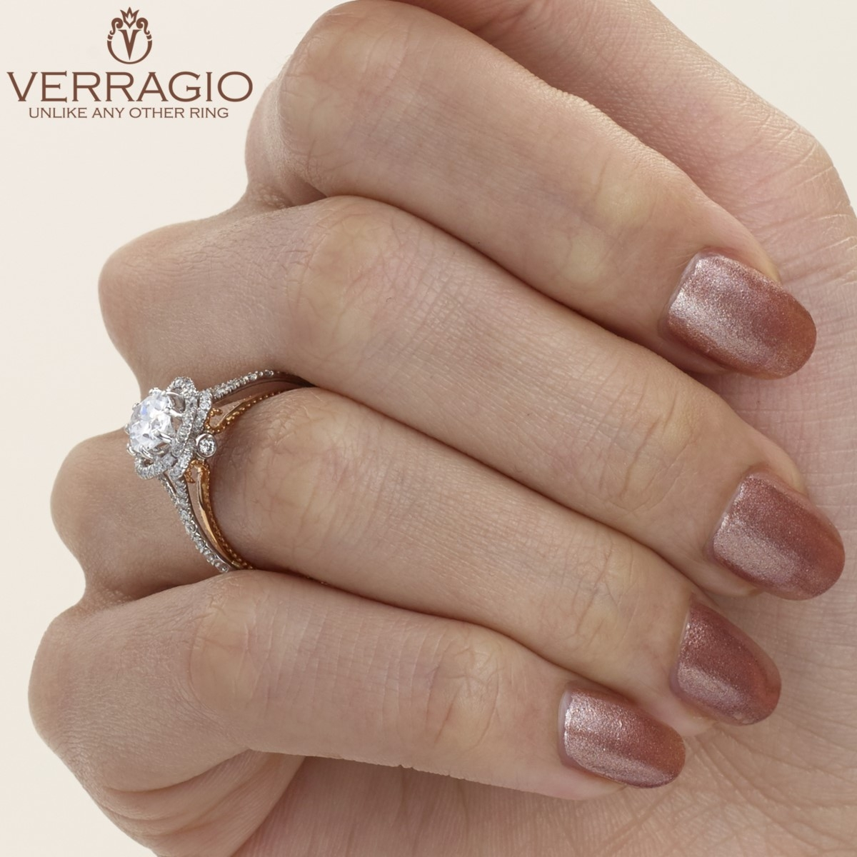 Verragio Couture-0426OV-TT 14 Karat Engagement Ring Alternative View 5