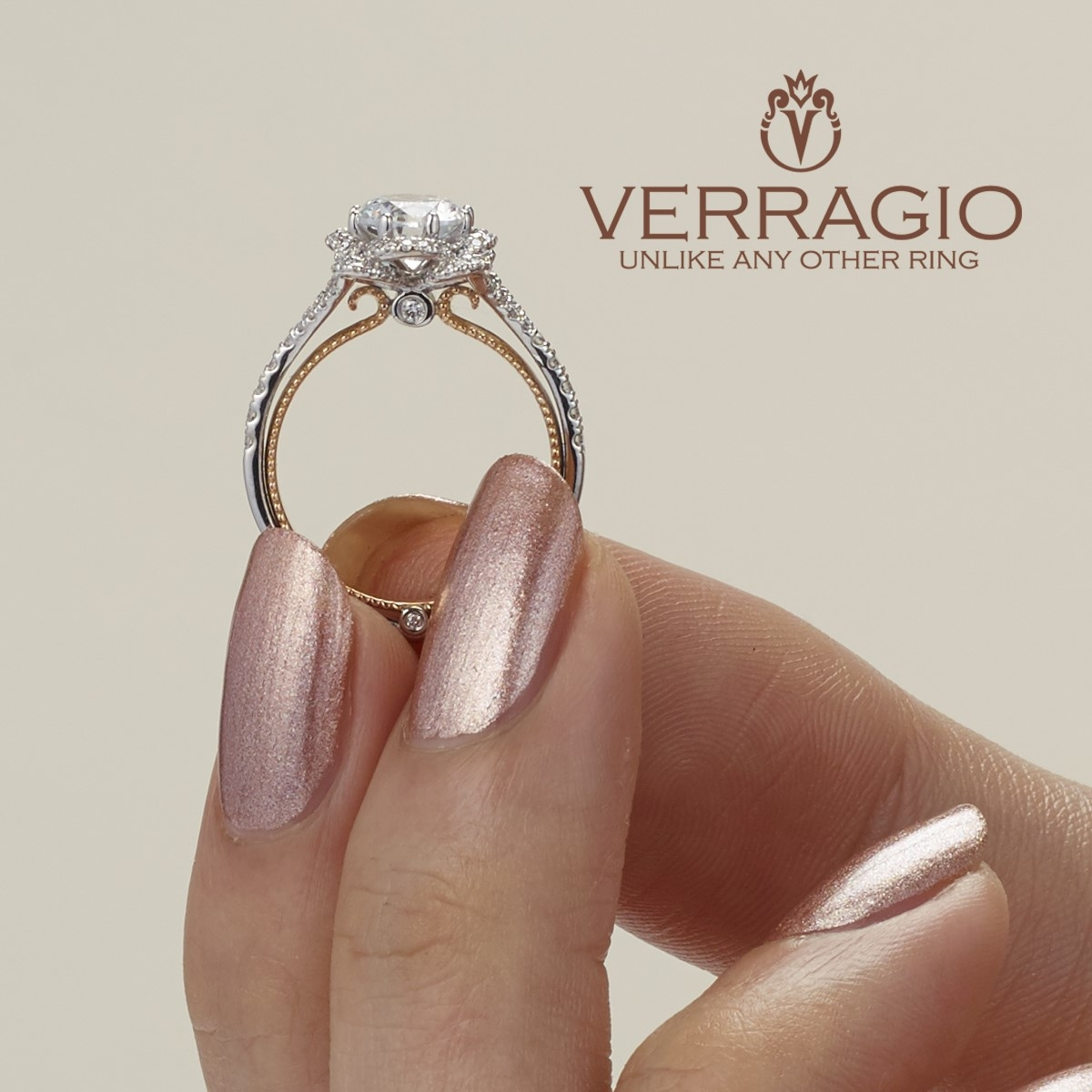 Verragio Couture-0426R-TT 14 Karat Engagement Ring Alternative View 4