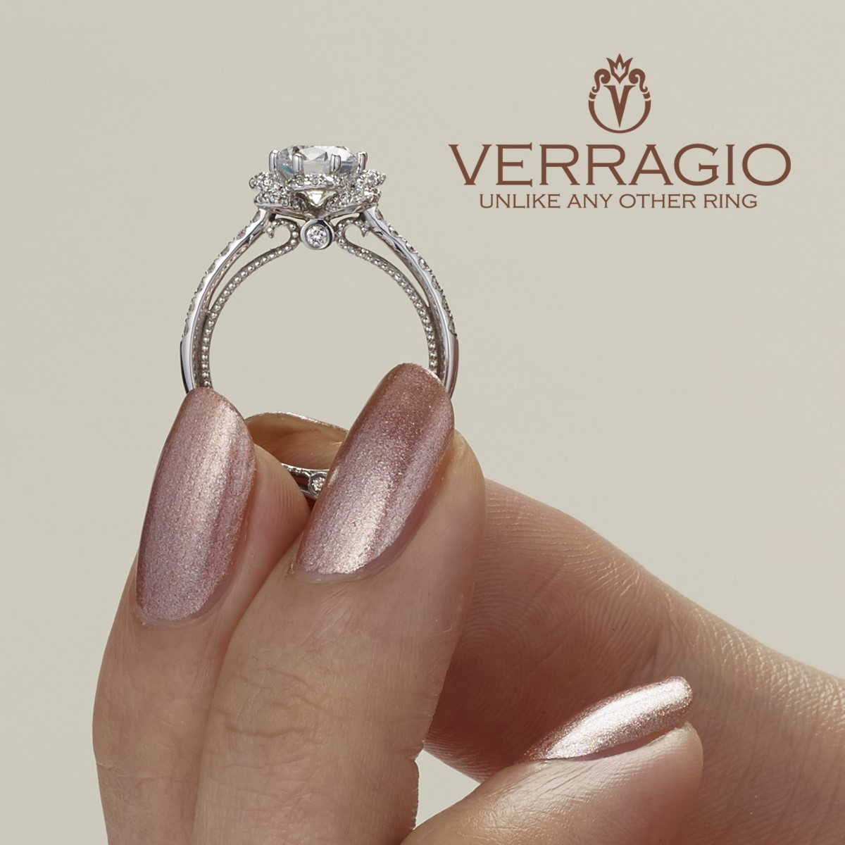 Verragio Couture-0428R 18 Karat Engagement Ring Alternative View 3