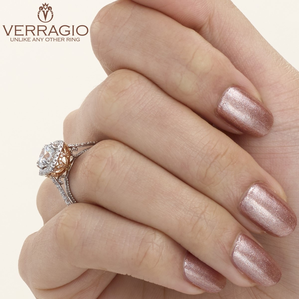 Verragio Couture-0433CU-TT Platinum Engagement Ring Alternative View 5