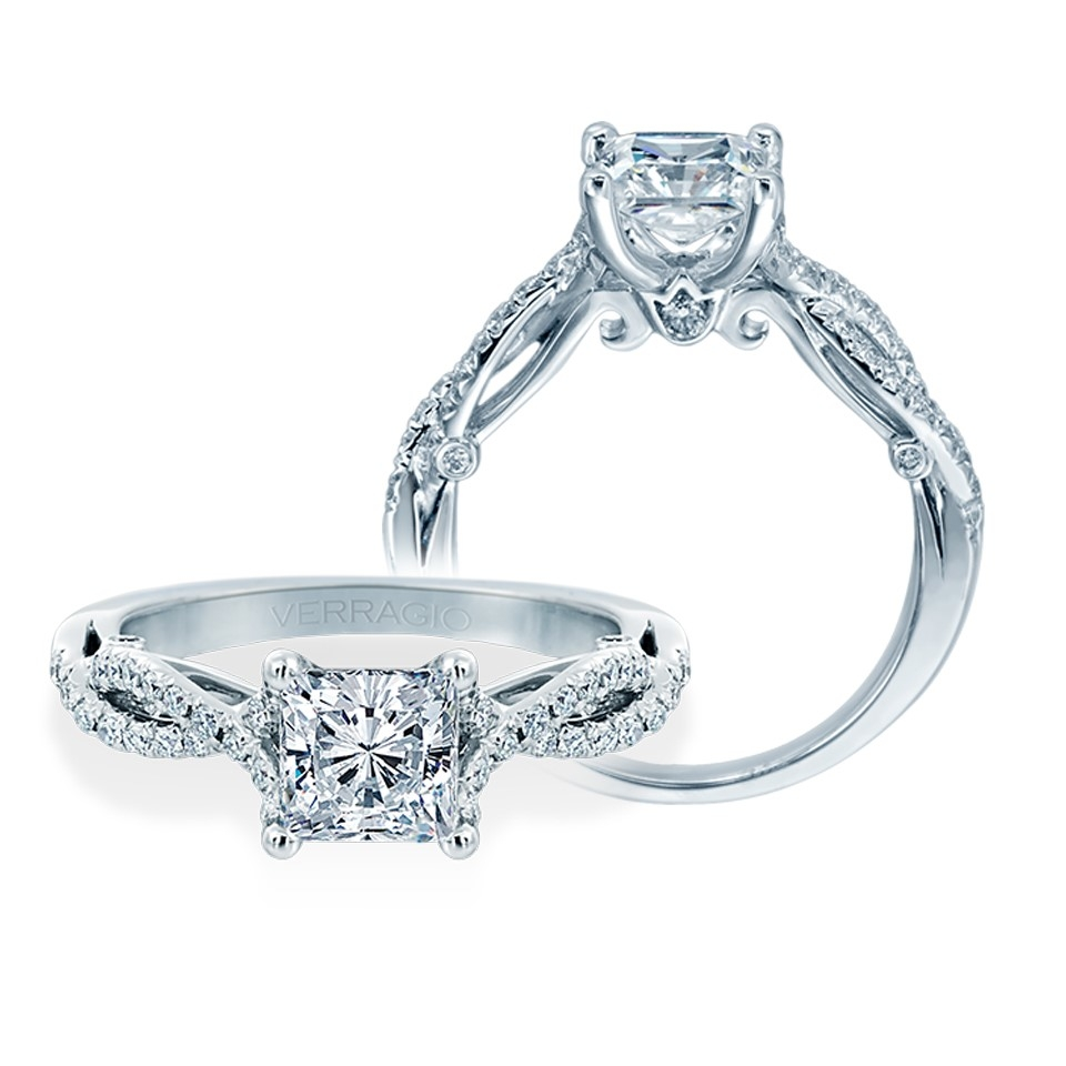 Engagement Rings Verragio: Verragio 18 Karat Insignia Engagement Ring INS-7050