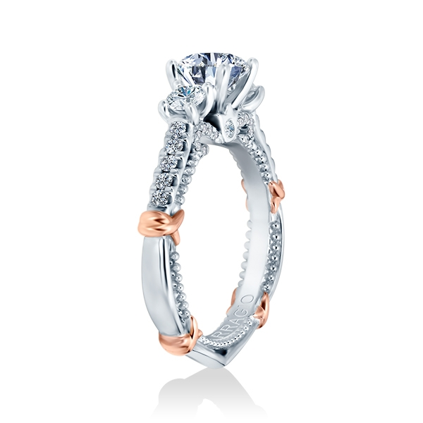 Verragio Parisian-143R Platinum Engagement Ring Alternative View 1