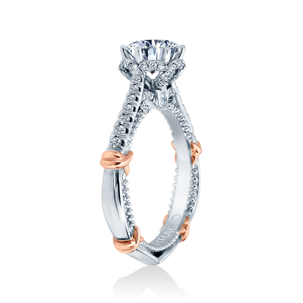 Verragio Parisian-144R Platinum Engagement Ring Alternative View 1
