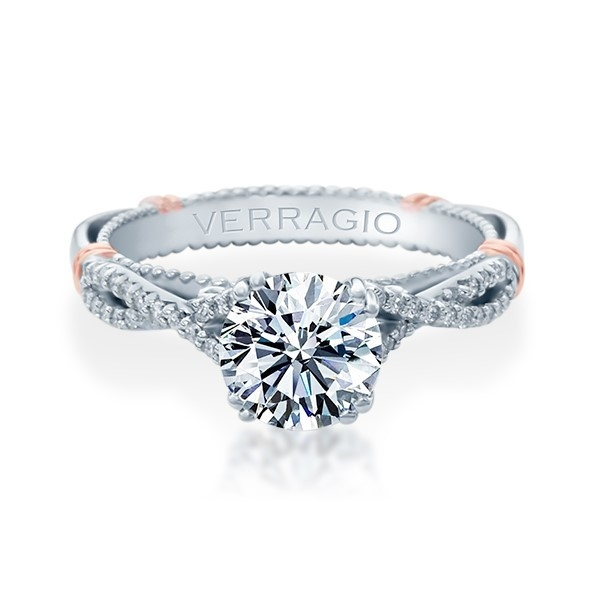 Verragio Parisian-105 Platinum Engagement Ring Alternative View 1