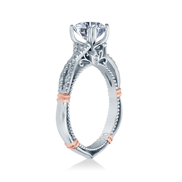 Verragio Parisian-105 Platinum Engagement Ring Alternative View 2