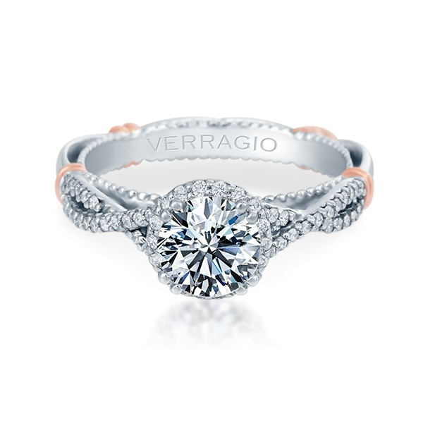 Verragio Parisian-106R Platinum Engagement Ring Alternative View 1