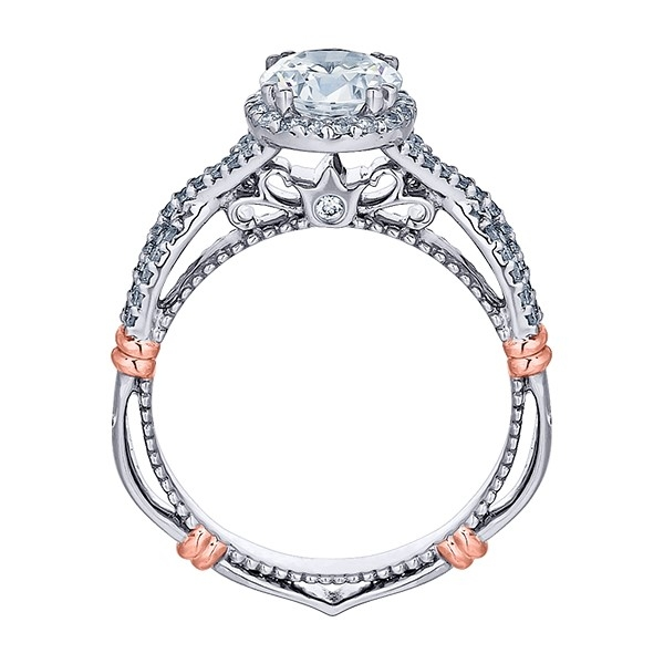 Verragio Parisian-106R Platinum Engagement Ring Alternative View 3