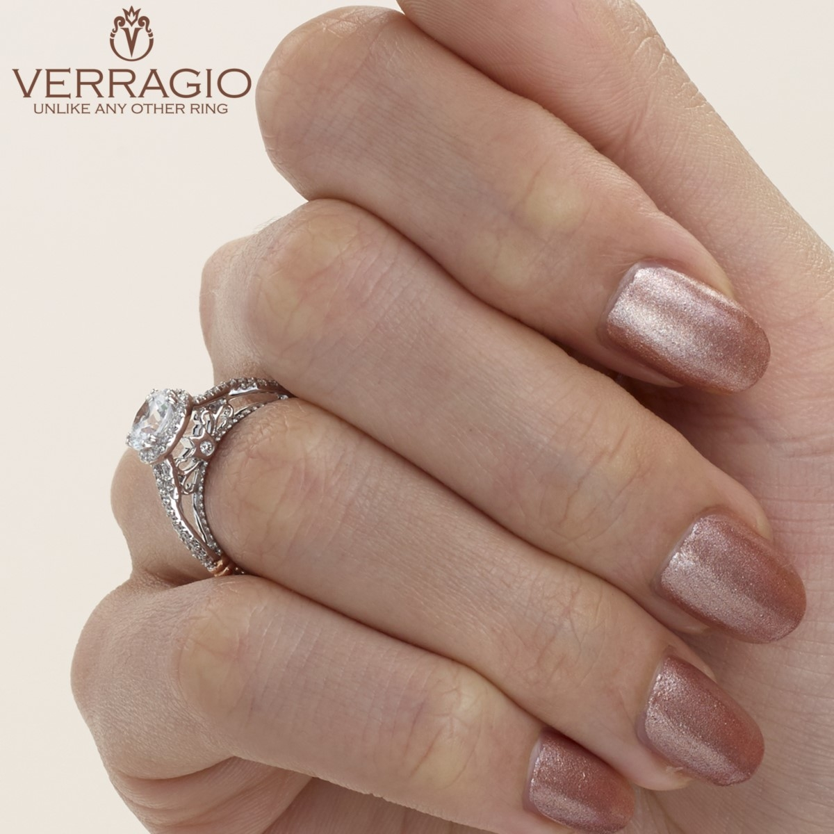 Verragio Parisian-106R Platinum Engagement Ring Alternative View 7