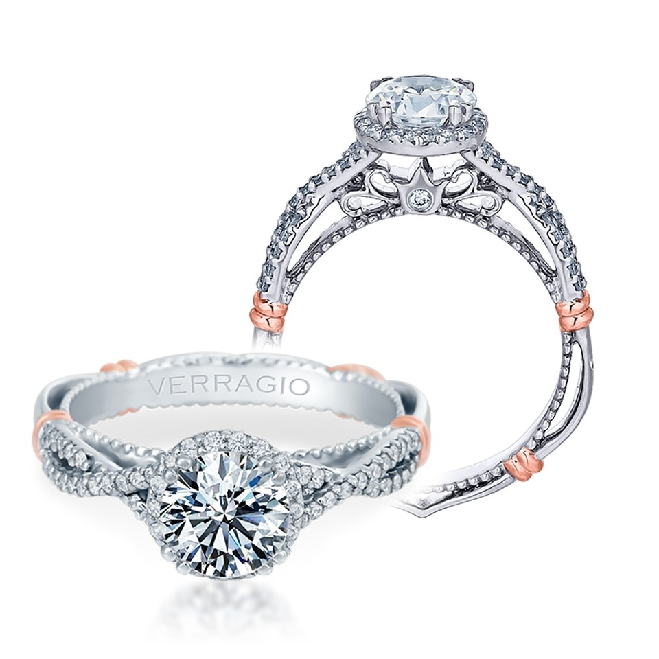 Verragio Parisian-106R Platinum Engagement Ring