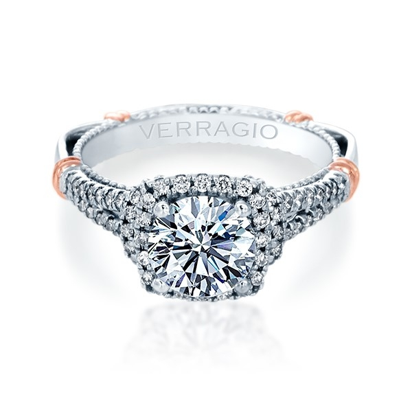 Verragio Parisian-117CU Platinum Engagement Ring Alternative View 1