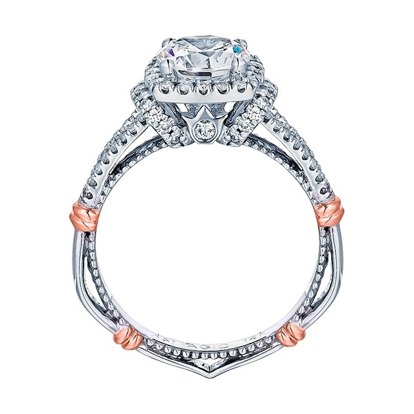 Verragio Parisian-117CU Platinum Engagement Ring Alternative View 3