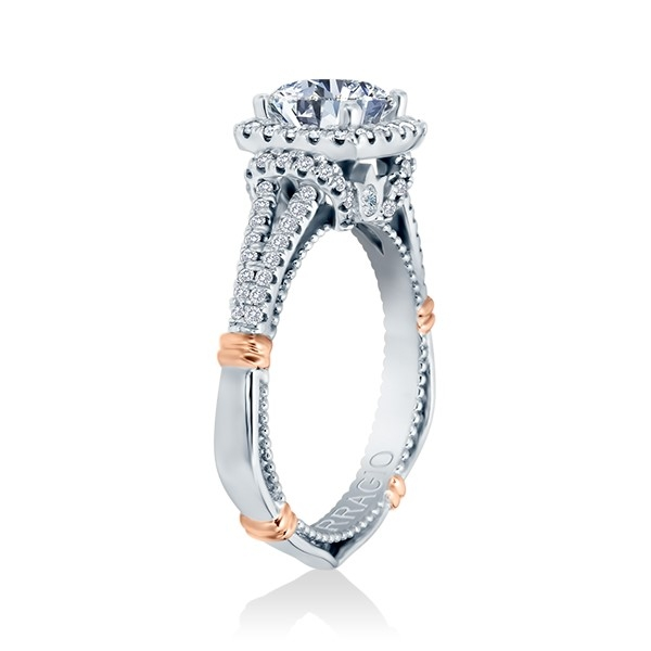 Verragio Parisian-117CU Platinum Engagement Ring Alternative View 2