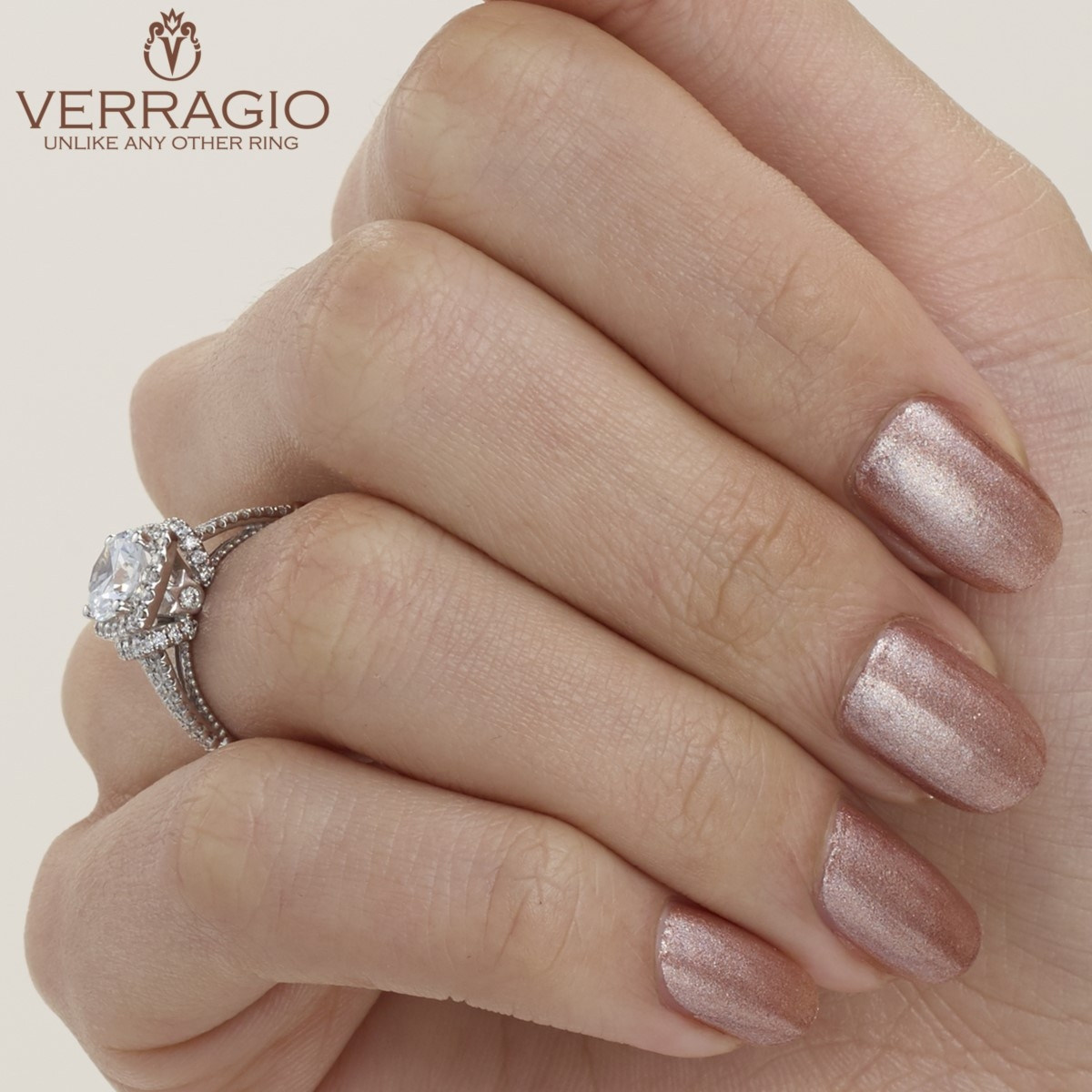 Verragio Parisian-117CU Platinum Engagement Ring Alternative View 7