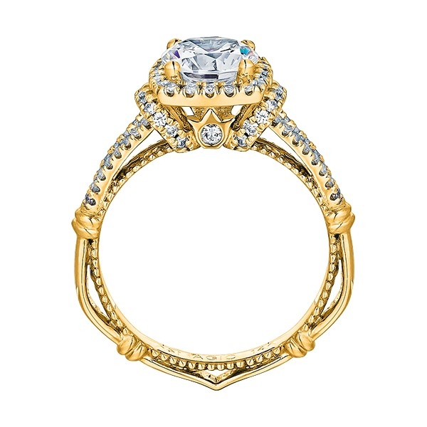 Verragio Parisian-117CU Platinum Engagement Ring Alternative View 4