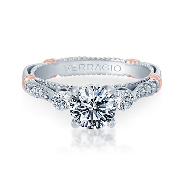 Verragio Parisian-124R Platinum Engagement Ring Alternative View 1