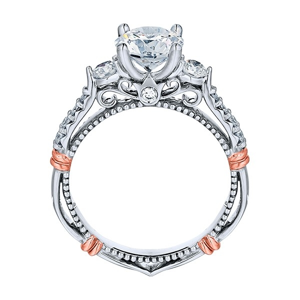 Verragio Parisian-124R Platinum Engagement Ring Alternative View 3