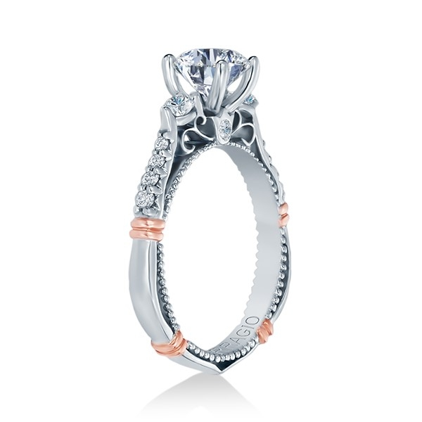 Verragio Parisian-124R Platinum Engagement Ring Alternative View 2